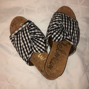 Sam Edelman plaid bow sandals